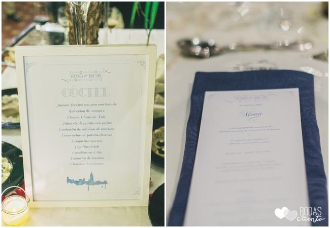 una boda decorada en azul wedding-planner