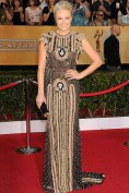 Malin Akerman chose a beaded gown from Naeem Khan