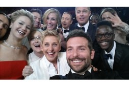 Ellen DeGeneres, Jared Leto, Jennifer Lawrence, Channing Tatum, Meryl Streep, Julia Roberts, Kevin Spacey, Bradley Cooper, Brad Pitt, Lupita Nyong'o, her brother Peter Nyong'o and Angelina Jolie
