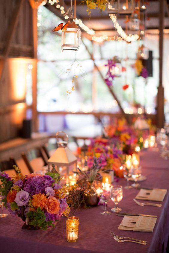 Decoracin de Mesas para Fiestas de Casamiento