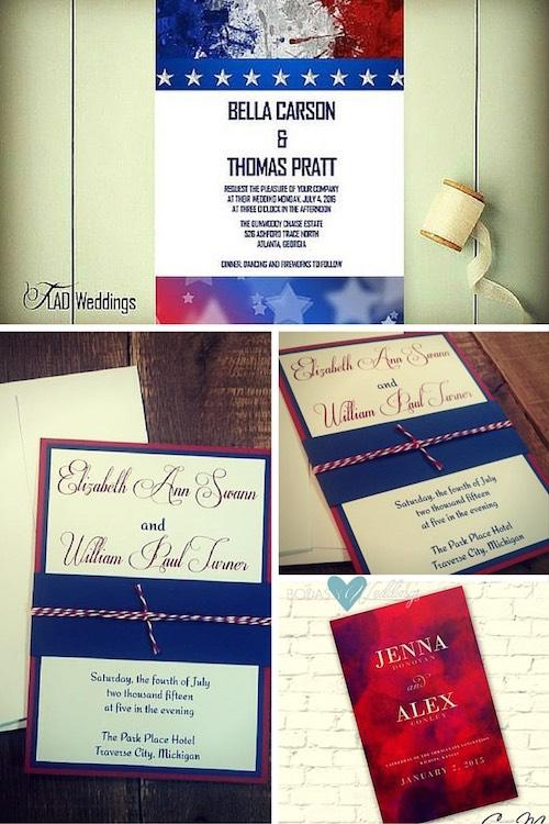 4th July Wedding Invitations