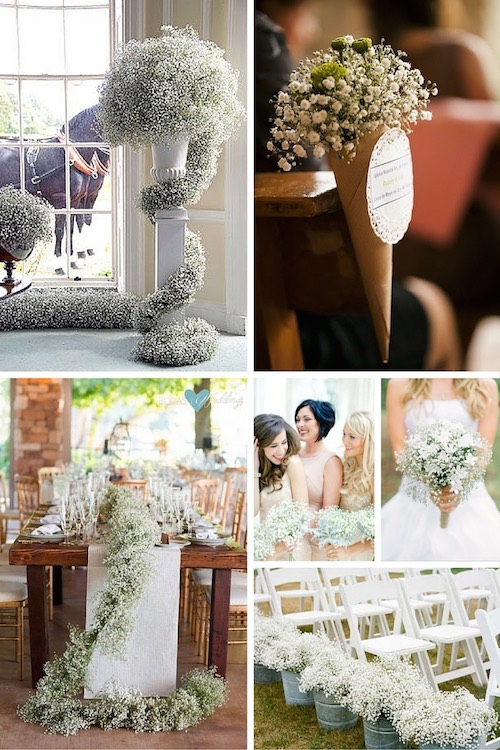 23 Babys Breath Wedding Decor Ideas Classy and Romantic