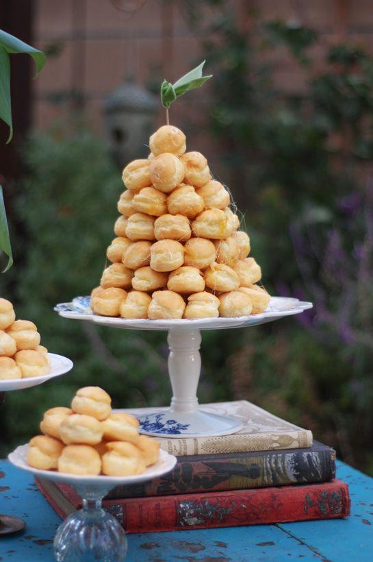 Cream Puff Wedding Cake