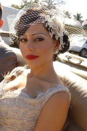tocados de novia glam boho vintage
