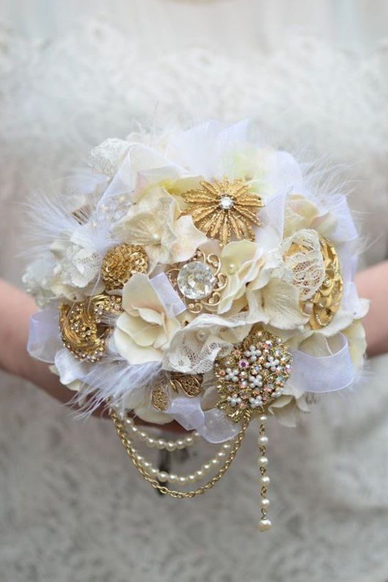 Bridal Bouquets without Flowers for NonTraditional Brides Unique  Stylish