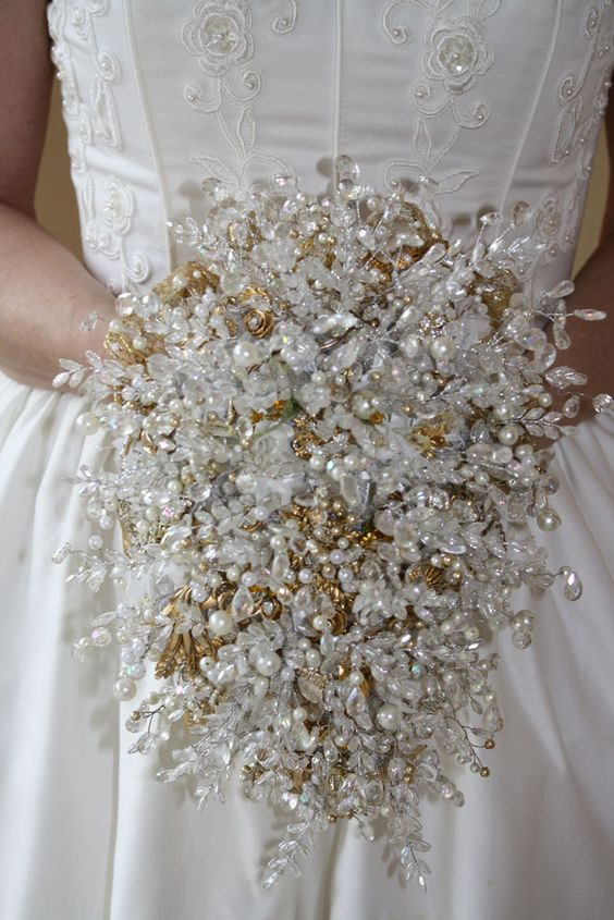 Bridal Bouquets without Flowers for NonTraditional Brides Unique  Stylish