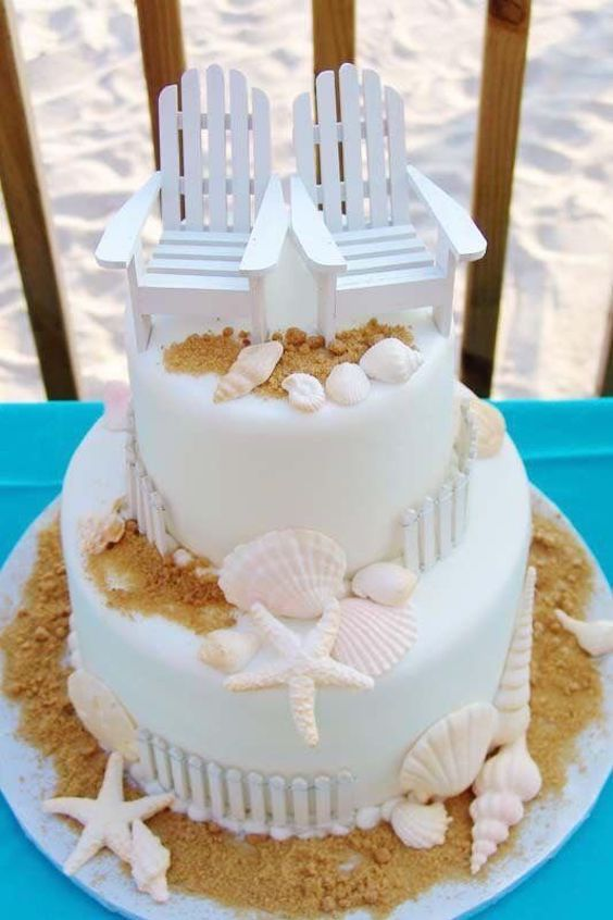26 Beach Wedding Cakes That Will Wow Your Guests Check