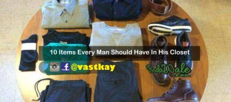 important items in men's closet