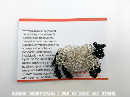 Wirework Sheep Brooch by Marion Boddy-Evans, Isle of Skye Art Studio