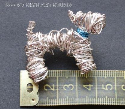 Wirework Jewellery Scottie Dog by Marion Boddy-Evans Isle of Skye Art Studio