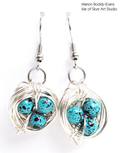 Wirework Earrings Bird's Nests