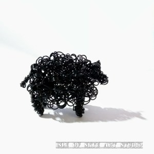 Black Wirework Sheep Isle of Skye Art Studio Marion Boddy-Evans Scotland