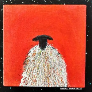 Small Original Sheep Painting by Marion Boddy-Evans