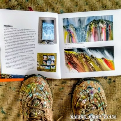 Pages from Never Still book on paintings by Marion Boddy-Evans