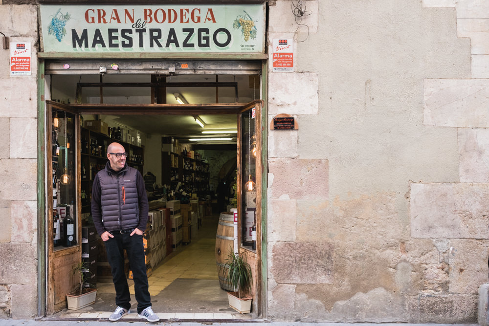 Jose Moliner is the proud owner of Bodega Maestrazgo wine bar and wine shop in Barcelona.