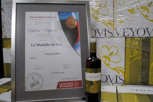 Medalla de Oro para Veyovis en el Concurso Mundial de Bruselas 2015.