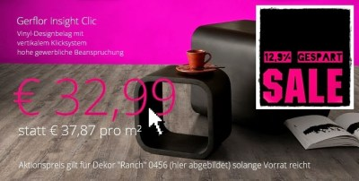 Aktion Angebot Vinylboden Gerflor Insight Clic Ranch Super Sale