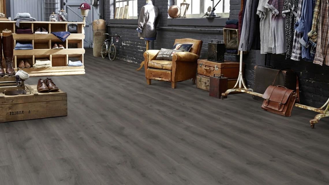 Designboden Tarkett iD Inspiration Click 55 Planke RUSTIC OAK Ladenbau