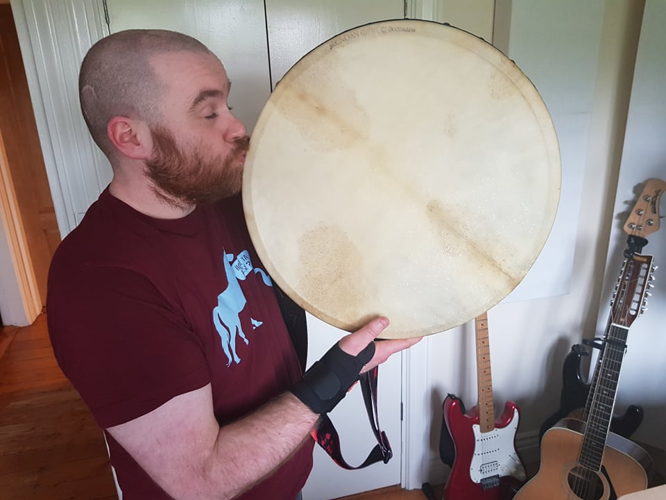 Dwayne and his Brendan White Bodhran