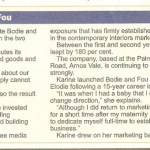 Karine in the business section of the Evening Post