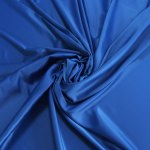 Polyester Satin Fabric Poly Spandex Heavy Duchess Satin Dull Satin Heavy Stretch Royal Blue Electric Blue Under Lace 150cm 60 Inches Bodikian Textiles