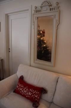 Juletre i speilet