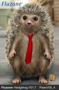 Fluzone commercial hedgehog V02. Designed for Legacy Effects.