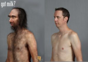 got milk? commercial caveman Andrew photoshop makeup. Designed for Legacy Effects.