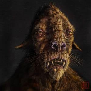 Mammal creature illustration.