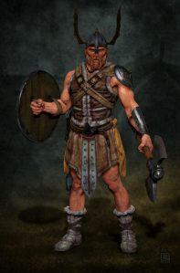 Viking character.