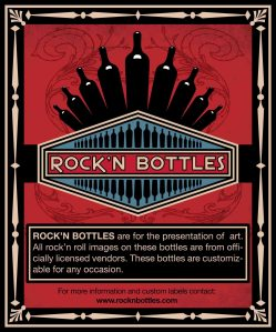 Rock'n Bottles wine label designed for The Studio El Segundo.