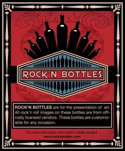 Rock'n Bottles wine label designed for The Studio El Segundo.