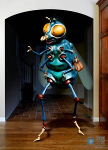 Wanderlust fly character V04 designed for Eddie Yang Studios.