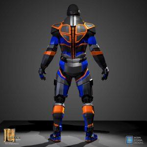 Lebron James' Nike Superhero Elite suit back render.