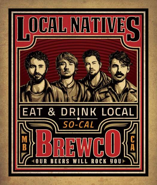 Brewco Local Natives poster