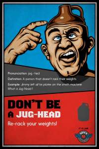 "Rock'n Fitness ""Jug-Head"" sign"