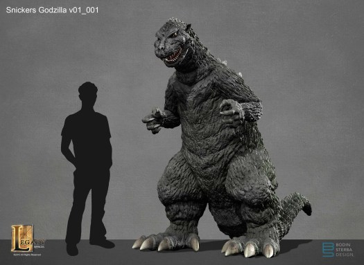 Snickers Godzilla design- three quarter