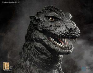 Snickers Godzilla design- head