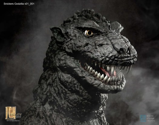 Snickers Godzilla design- head