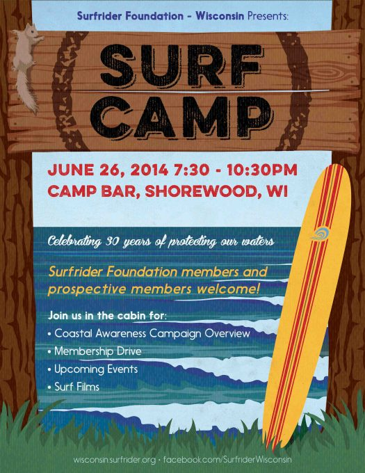 Surfrider Foundation Surf Camp poster