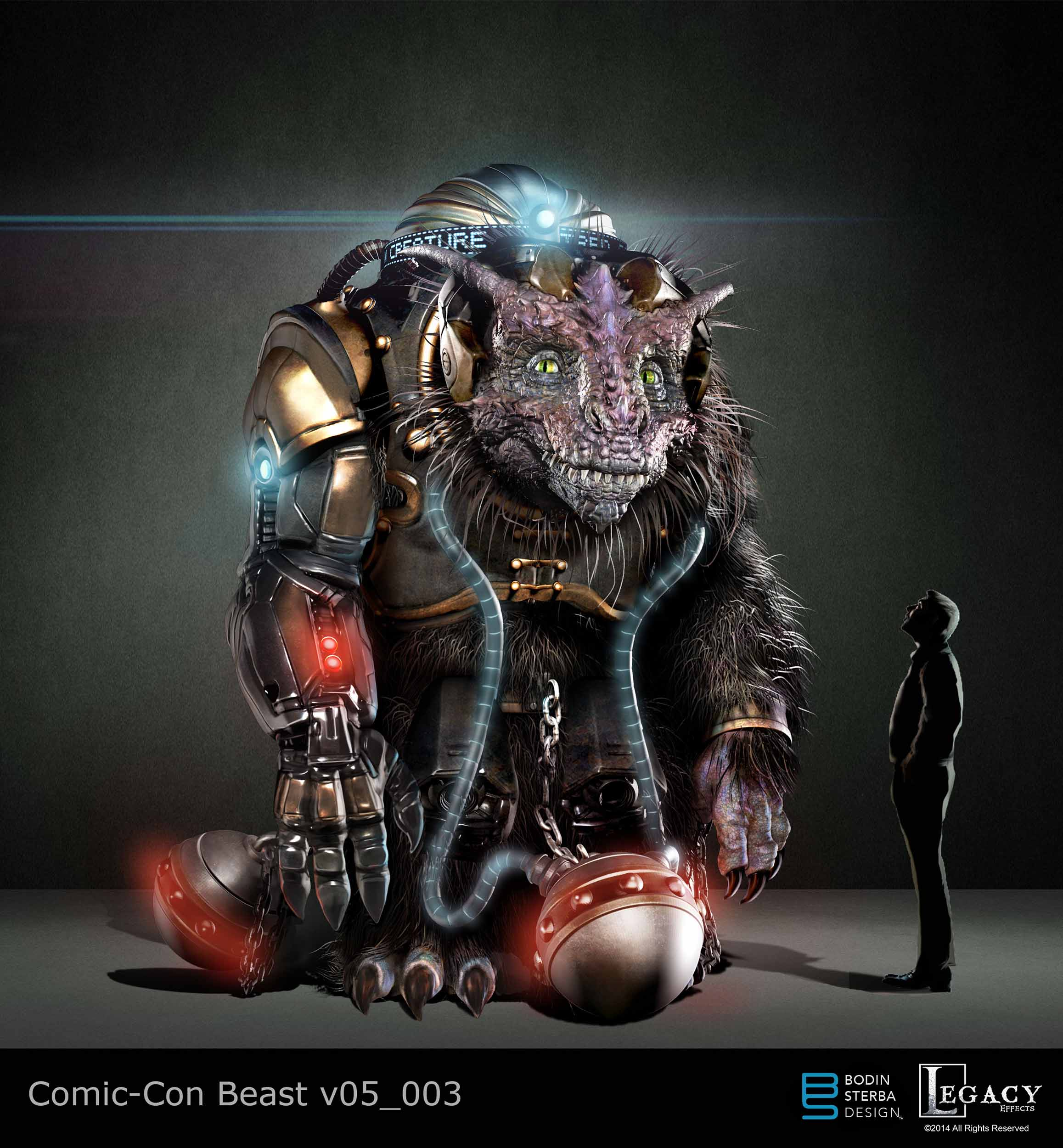 Here is the winning design I created of the Giant Creature for Comic-Con 2014