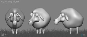 Sheep 3D model for Hay Day commercial