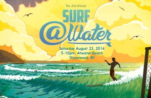 Surf @Water 2014 flyer art