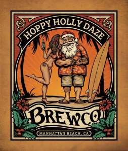 Brewco Hoppy Holly Daze wall art