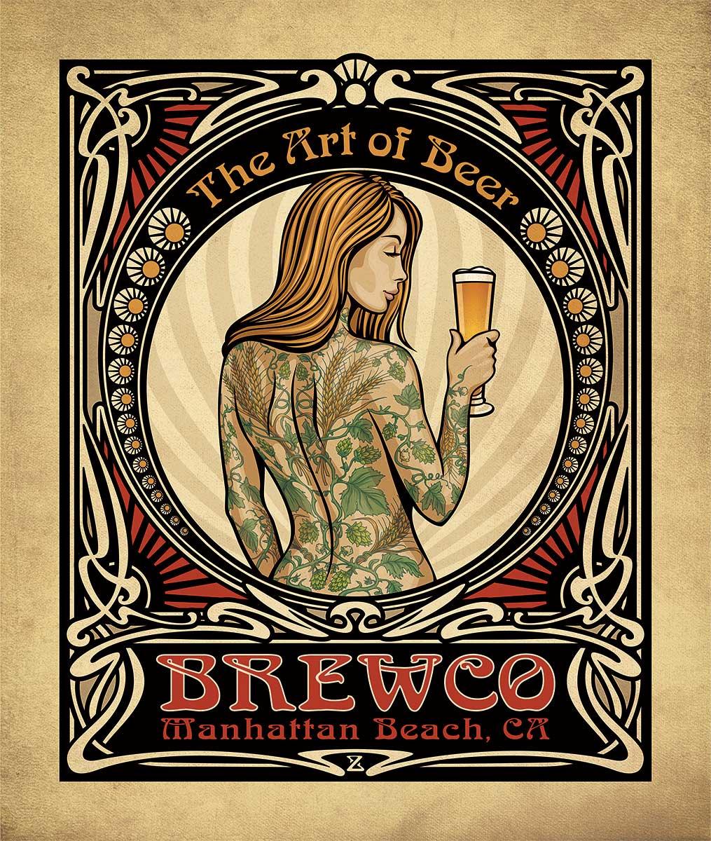 Brewco Art of Beer canvas art