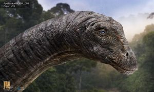 Jurassic World apatosaurus head detail