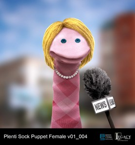 Plenti Sock Puppet design