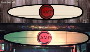 Camp Bar surfboard design. Board shaped by Tim Folkert of Migration Surf.