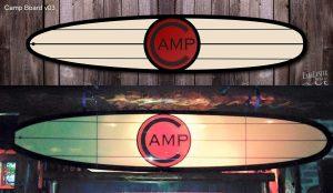 Camp Bar surfboard design. Board shaped by Tim Folkert of Migration Surf.