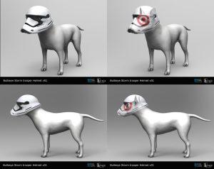 Target Bullseye Storm Trooper Helmet design for The Star Wars Chase commercial